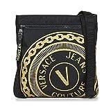 Versace Jeans Couture Soleda Petite poche pour homme Noir/doré Taille unique