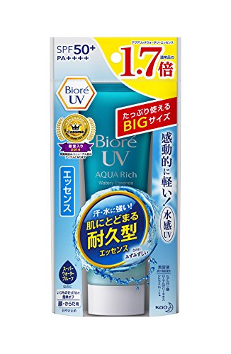 Biore Sarasara UV Aqua Rich Watery Essence Sunscreen SPF50+ PA+++ 85g (Essence)