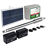 ECO-WORTHY Heavy-Duty Automatic Gate Opener Kit Solar Single Gate Operator Up to 660 Pounds or 8 Feet