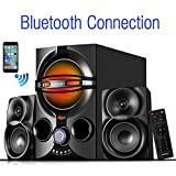 Boytone BT-324F, 2.1 Bluetooth Powerful Home Theater Speaker Systems, with FM Radio, SD USB Ports, Digital Play Back, 40 Watts, RGB Light, Full Function Remote Control, Smartphone, Tablet