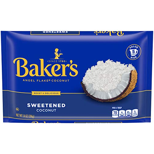 Baker's Angel Flake Coconut Sweetened, 14 Ounce (Pack of 10)