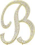 Sparkly Rhinestones Letter B Cake Topper, Birthday Wedding Anniversary Gold Initial B