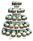 The Smart Baker 5 Tier Round Cupcake Stand PRO- Holds 90+ Cupcakes As Seen on Shark Tank - Made in USA