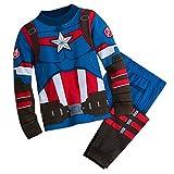 Marvel Captain America Costume PJ PALS for Boys Size 4 Multi