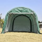 walsport Portable Carport Auto Shelter 10x15x8ft Outdoor Sheds Car Garage Storage Canopy Green Round Top Style Green with Waterproof Cover