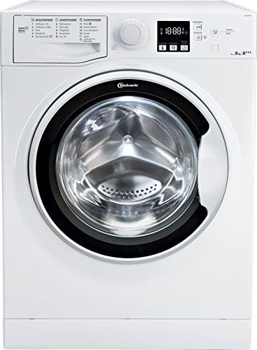Bauknecht WA Soft 8F41 Waschmaschine Frontlader / A+++ -10{34811c606808bd5551563bae15344847c8945ff09f9a952a93e425e010ab5cda} / 1400 UpM / 8 kg / Weiß / langlebiger Motor / Nachlegefunktion / Wasserschutz
