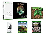 Ce pack inclut : Xbox One S 1To - Sea of Thieves Manette Minecraft Creeper - Edition Limitée Support Vertical pour Xbox One S Call of Duty : World War II Minecraft : Explorer's Pack