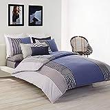 Lacoste Meribel Cotton Bedding Set, King, Blue/White