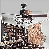 Moerun 52inch Ventilateur de plafond vintage avec lumières pour lustre...