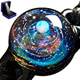 Pavaruni Aurora Original Galaxy Pendant Necklace, Universe Glass, Space Cosmos Design,Birthday Art Japan Handmade Craftsman (X_Aurora(Bracelet)(Synthetic Opal Gemstone))