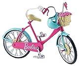 Barbie Mobilier Bicyclette pour poupée, vélo fourni avec casque bleu et...