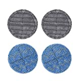 FUNTECK 4 pcs Replacement Mopping Pads for Electric Mop Head Attachment, Grey&Blue