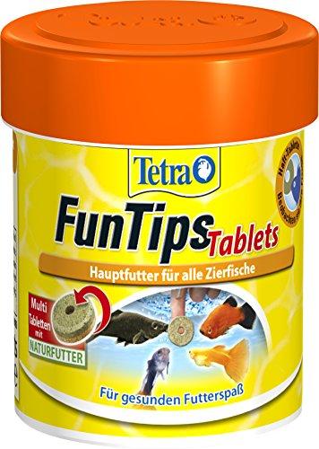 Tetra FunTips Tablets, Haft Futtertabletten als Hauptfutter für alle Zierfische, verstärken die Farbkraft und sorgen für gesunde und vitale Fische, verschiedene Größen