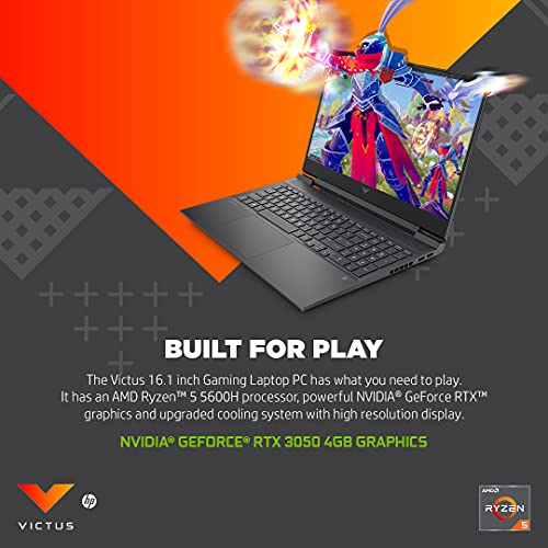 51D73+TtmGL Victus by HP Ryzen 5 5600H 16.1-inch(40.9 cm) FHD Gaming Laptop computer (8GB RAM/512GB SSD/4GB RTX 3050 Graphics/Flicker Free Show/Home windows 10/MS Workplace/Mica Silver/2.48 Kg), 16-e0076AX