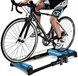 HIMFL Collapsible Fitness Cycling Parabolic Roller Indoor Bike Trainer Exercise Fitness Stationary Frame for Mountain and Road Bike