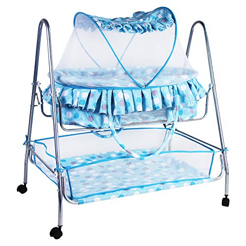 Kiddery Clio   Value Baby Bassinet with Mosquito Protection Net   Detachable Basket   All Wheel Lock...