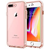 JETech Case for Apple iPhone 8 Plus and iPhone 7 Plus 5.5-Inch, Shock-Absorption Bumper Cover, Anti-Scratch Clear Back, Rose Gold