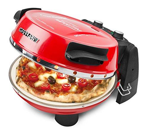 G3Ferrari G10032 Forno Pizza Plus, 1200 W, 1 Liter, 18/10_Steel, Termostato regolabile (400C max), Rosso