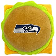 BETTER DOG TOY!!! The new NFL DOG SQUEAKY & FASHIONABLE PLUSH TOY: A GREAT, CUTE & DURABLE PET TOY! The Embroidered Team Name/Logo & built-in SQUEAKER inside the NFL Cheese Burger TOY will add many smiles in the crowd! Just click ADD TO CART now! Ext...
