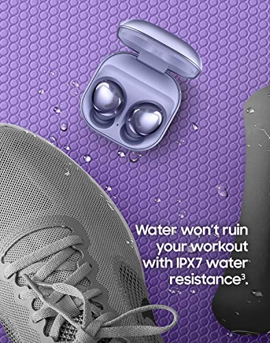 SAMSUNG Galaxy Buds Pro, Bluetooth Earbuds, True Wireless, Noise Cancelling, Charging Case, Quality Sound, Water Resistant, Phantom Violet (US Version) 15