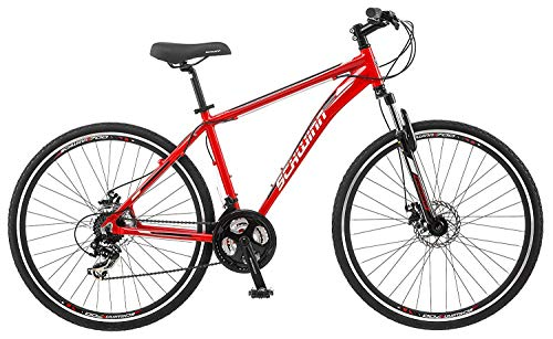 Schwinn GTX Comfort Adult Hybrid Bike, Dual Sport Bicycle, Aluminum 16-20-Inch Frame, Multiple Colors