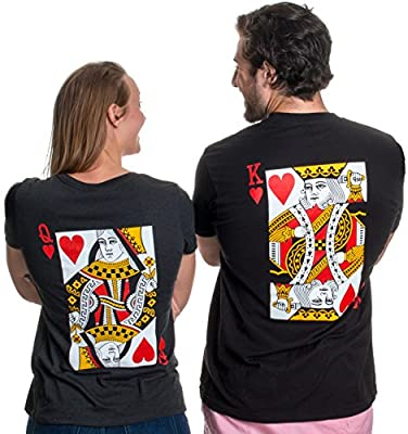 YOU MUST ADD TO CART TWICE | Pick your size in King or Queen, and add to cart. Then repeat for the other shirt. UNISEX MODERN FIT SIZING | this shirt is slightly tapered to be a little less boxy than the old style of mass-market t-shirt. Nothing dras...