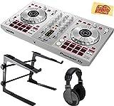 Pioneer DDJ-SB3-S Share 2-channel DJ Controller for Serato DJ Lite Bundle with Stand, Headphones, and Austin Bazaar Polishing Cloth - Silver