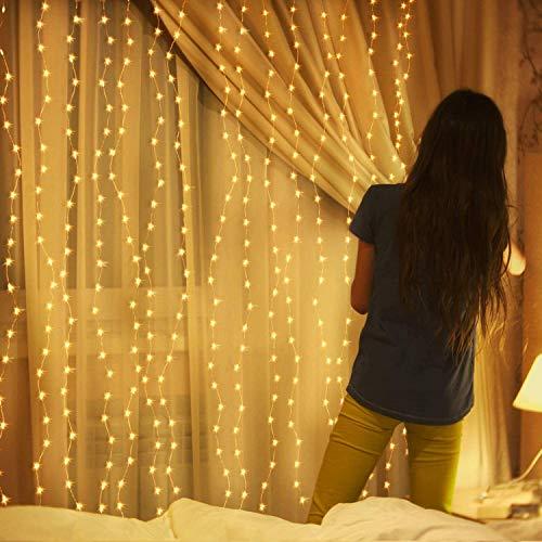 LED Fairy String Lights, Warm White 300 LED, 9.8x9.8 Feet,...