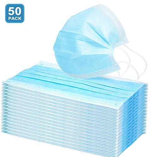 AD ADTRIP 50PCS Mascarilla desechable Mascarilla bucal transpirable a prueba de polvo Maschera anti-polvere monouso con Earloop