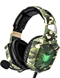 RUNMUS Gaming Headset for PS4, Xbox One, PC Headset w/Surround Sound, Noise Canceling Over Ear...
