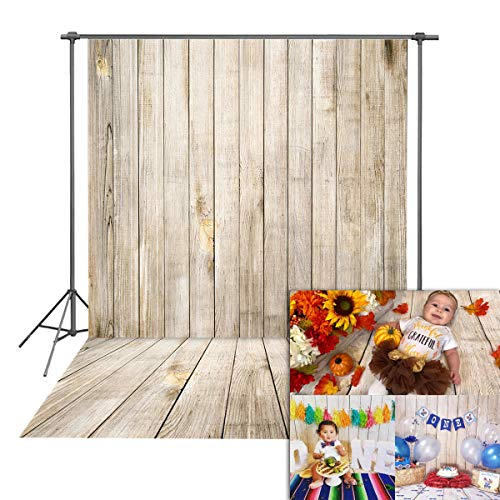 Daniu Wooden Floor Photography Backdrops Children Kid Vinyl Baby Background Photo Studio Props 5x7FT,150cmx210cm