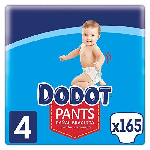 Dodot Pañales Bebé Pants Talla 4 (9-15 kg), 165 Pañales,