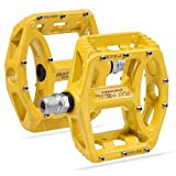 Vanfrost MTB Bike Pedal Mountain Bike Pedals with High-Strength Non-Slip Bicycle Pedals Surface (Yellow)