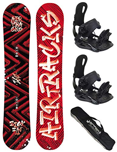AIRTRACKS Snowboard Set/Pack/Planche Dirty Brush Wide 150CM+Fixations Star L+SB Sac/Neuf