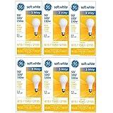GE 97494 50/100/150 Watt 3-Way Light Bulb with Medium Base, 6 Count (Pack of 1), Soft White