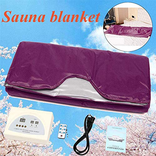 FTNJG Heat Sauna Slimming Blanket, 2 Zone Far Infrared Sauna Blanket with Safety Switch Used As Home Sauna for Reduce Weight Thin Body Home Beauty 2
