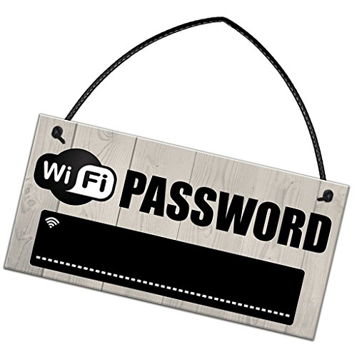 WiFi password rustico in legno insegna pub Shop Cafe hotel WiFiLavagna 20x 10cm