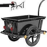 Remorque de vélo 90 litres avec Barre d'attelage poignées pneumatiques...