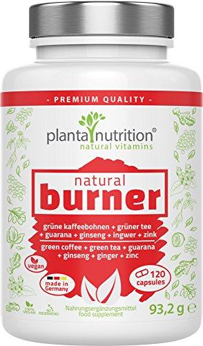 natural burner, natürlicher Fettverbrenner, Fatburner, 120 Kapseln, vegan, hochdosiert - Abnehmen, Stoffwechsel, Gewichtsverlust, Diätpillen