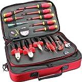 Herramientas y herramientas para electricistas y electrotécnicos en maletín