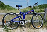 Columba 26' Alloy Folding Bike w. 18 speed double suspension Blue (RJ26A_BLU)