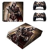 TSWEET Assassin's Creed Style Ps4 Pro Skin adhesivo para consola Playstation 4 Pro y 2 controladores, vinilo protector