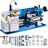 Mophorn 7x12 Upgraded Version Metal Lathe 550W Precision Bench Top Mini Metal Milling Lathe Variable Speed 50-2500 RPM Nylon Gear with A Movable Lamp (7 x 12 Inch)