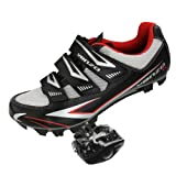 Venzo Mountain Bike Bicycle Cycling Compatible with Shimano SPD Shoes + Pedals & Cleats 40