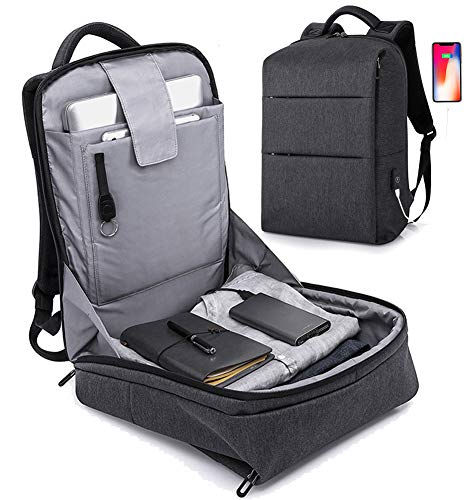 Anti Theft Backpack 17inch Business Laptop Backpacks with USB Charging Port, Water Resistant College School Computer backpack Fits 15.6 Inch Laptop Notebook