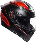 AGV(エージーブイ) バイクヘルメット フルフェイス K1 WARMUP MATT BLACK/RED (ウォームアップ) M (57-58cm) 028192IY002-M