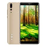 Xgody 6 Inch Android 9.0 Cellphone Unlocked Dual Camera 2G RAM Unlocked Smartphone 16GB Celulares Desbloqueados 2G/3G Network for T-Mobile/AT&T/MetroPCS (Gold)