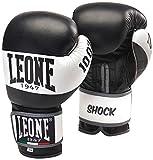 Leone 1947 GN047 Shock guantes de boxeo, Unisex adulto, negro