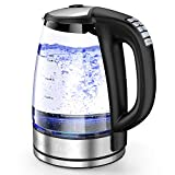 HadinEEon Variable Temperature Electric Kettle, 1200W Electric Tea Kettle, 8 Big Cups 2.0L Glass...