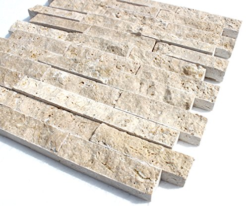 Travertine Light XL Boden Wand Naturstein Mosaik Travertin hochwertig - 1 Matte